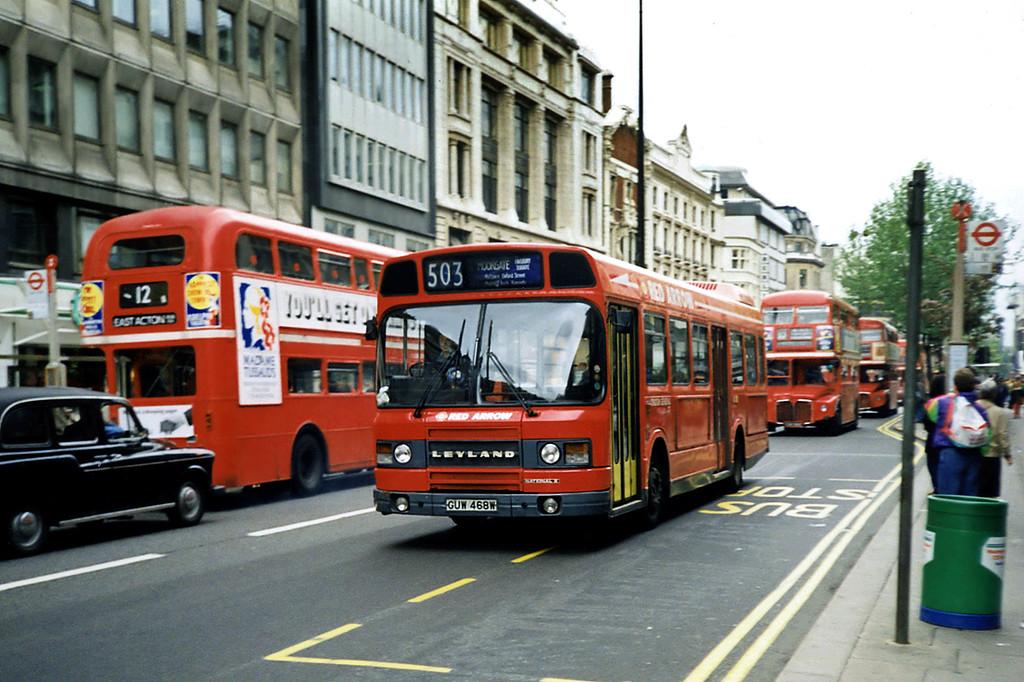 LS468 GUW468W, Oxford Street 16/5/1991