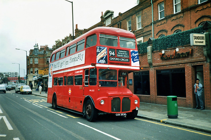 RML2353 CUV353C, Shepherds Bush 16/5/1991