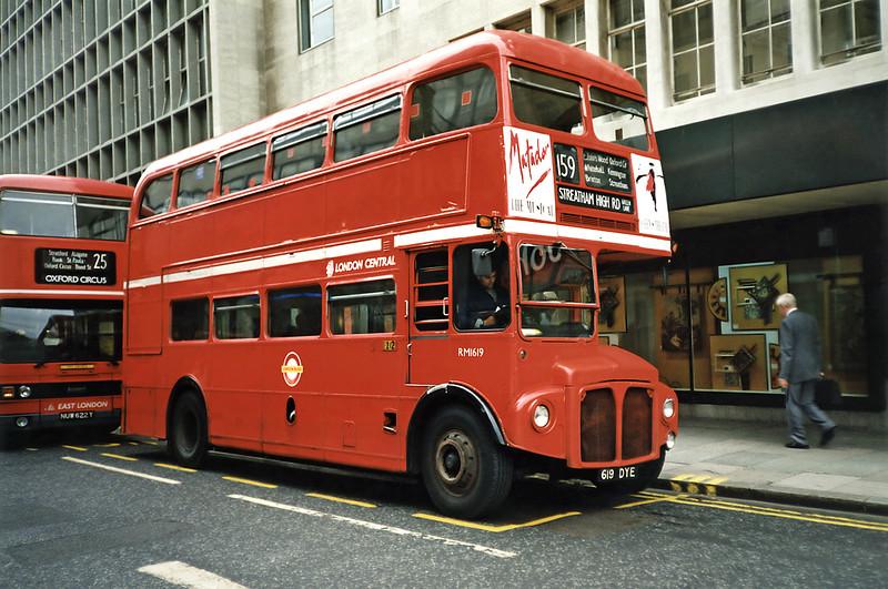 RM1619 619DYE, Oxford Circus 16/5/1991