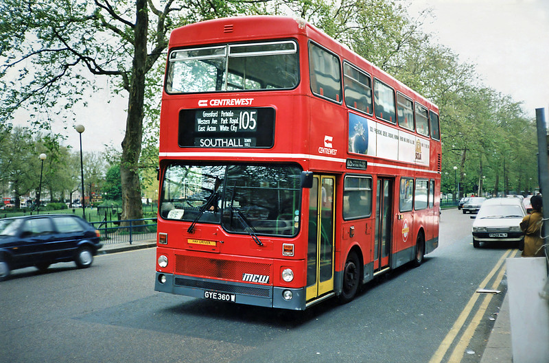 M360 GYE360W, Shepherds Bush 16/5/1991