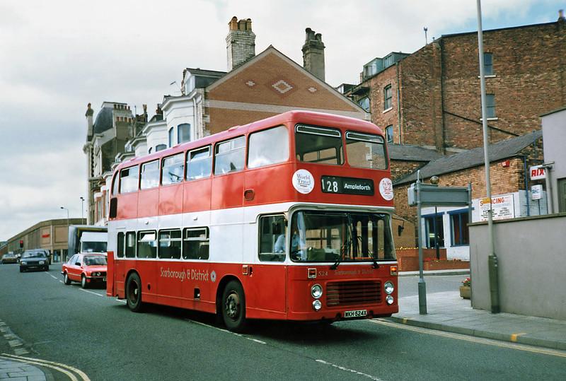 524 WKH524X, Scarborough 16/8/1991