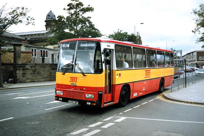 1323 A33LWX, Scarborough 16/8/1991