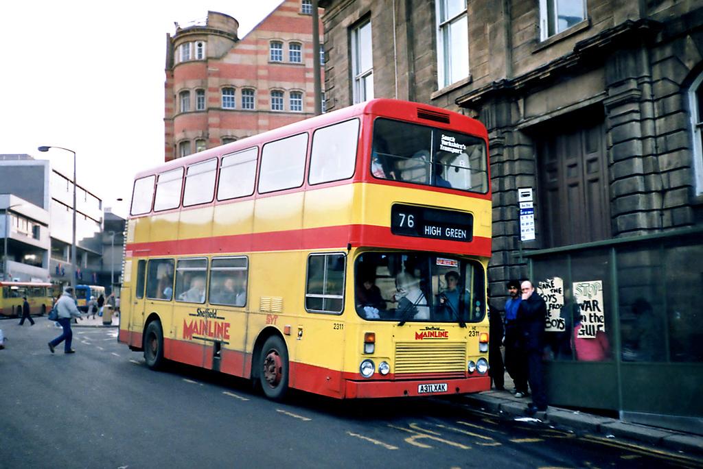 2311 A311XAK, Sheffield 17/2/1991