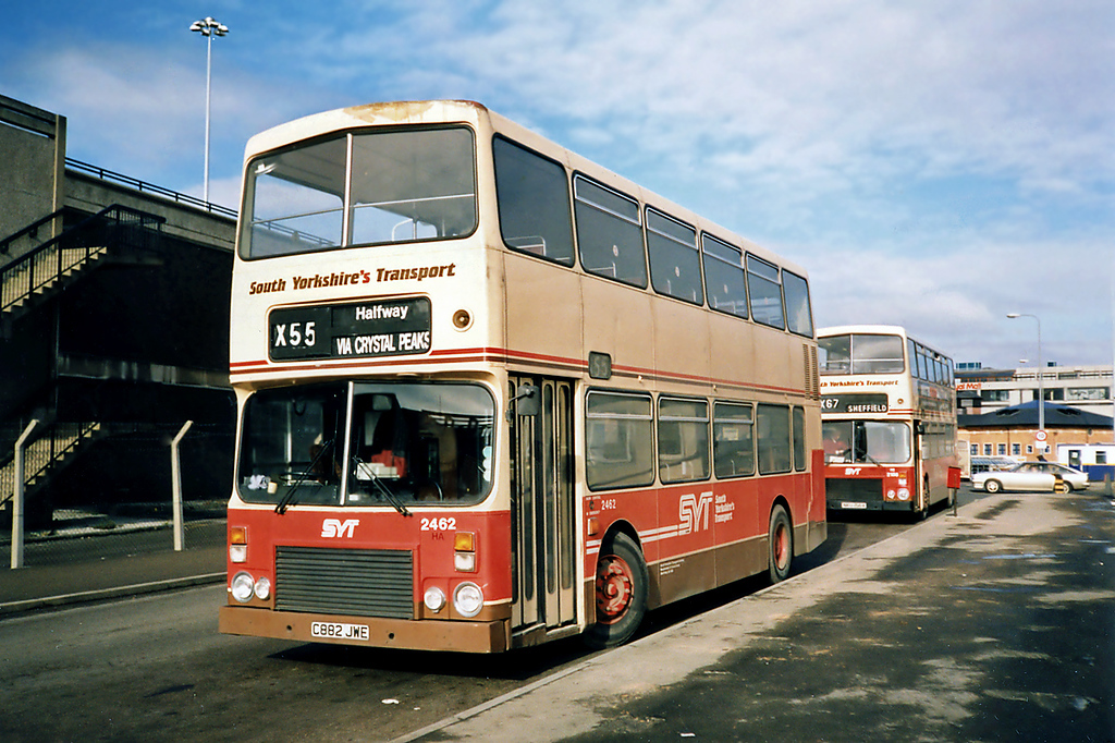 2462 C882JWE, Sheffield 17/2/1991