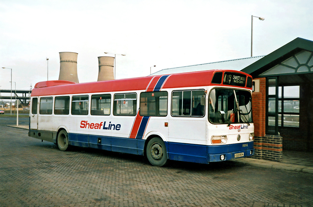 131 GUB185N, Meadowhall 17/2/1991