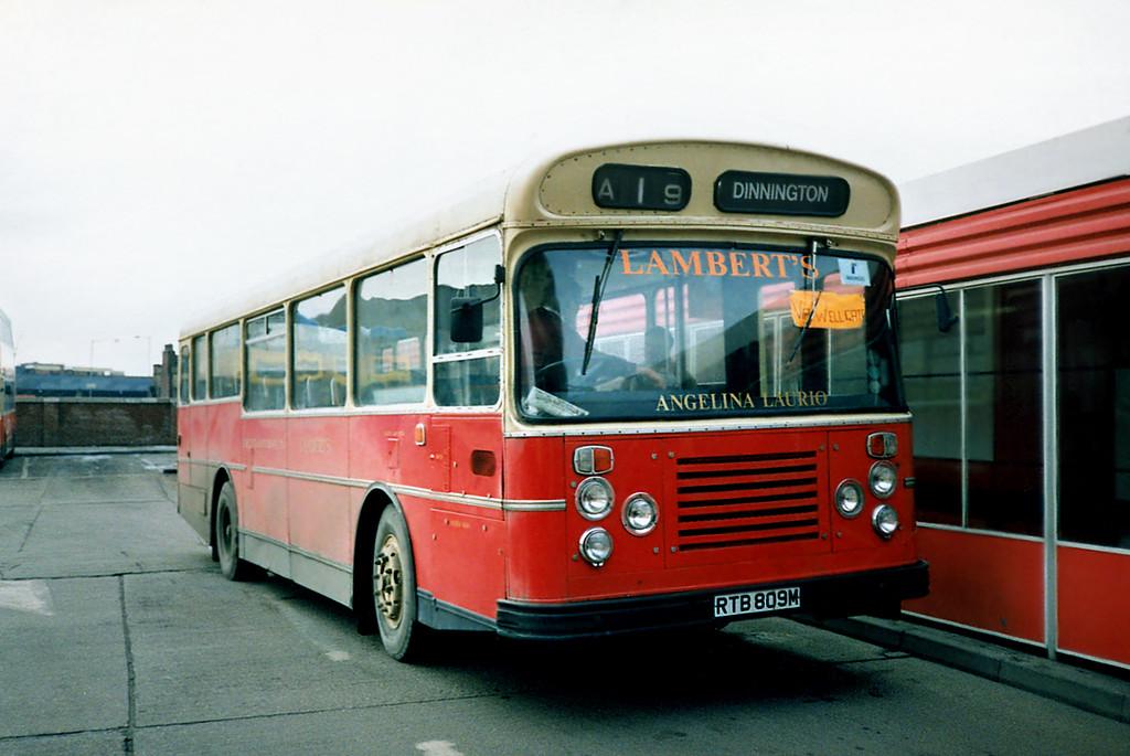 RTB809M, Rotherham 17/2/1991