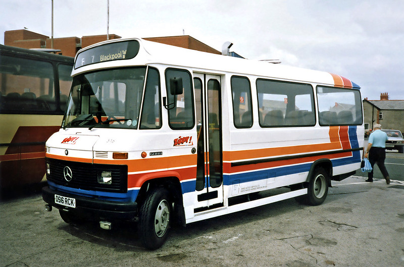 516 D516RCK, Cleveleys 17/7/1991