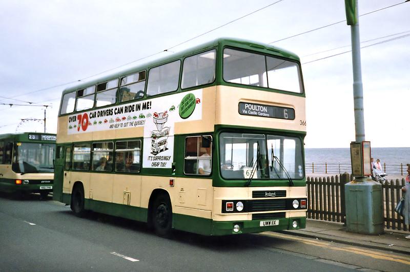366 UWW11X, Blackpool 17/7/1991