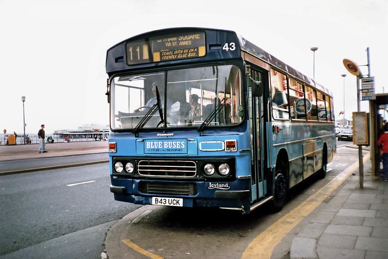 43 B43UCK, Blackpool 17/7/1991