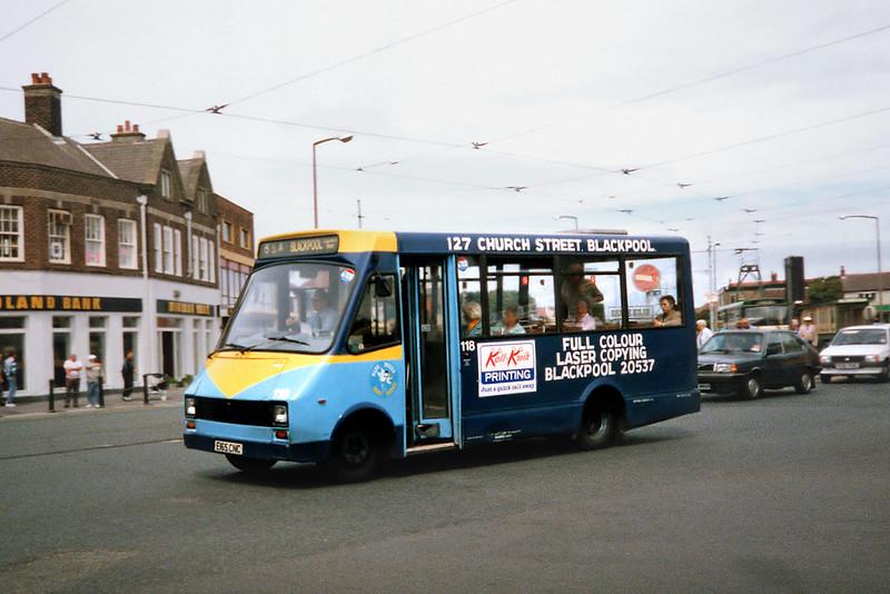 117 E165CNC, Cleveleys 17/7/1991