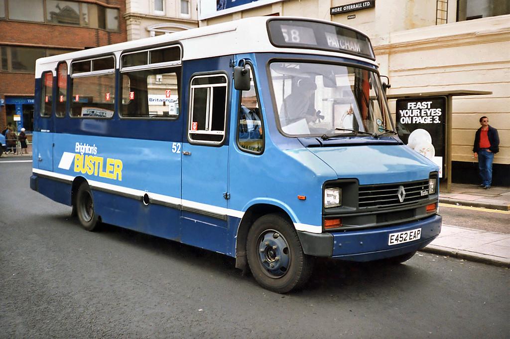 52 E452EAP, Brighton 18/5/1991