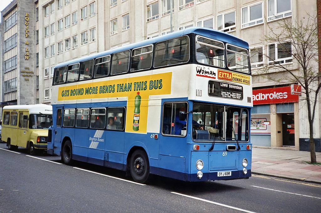 69 OYJ69R, Brighton 18/5/1991
