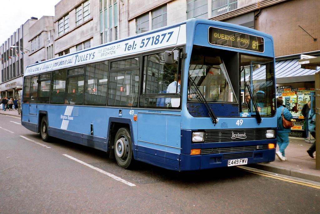 49 E449FWV, Brighton 18/5/1991