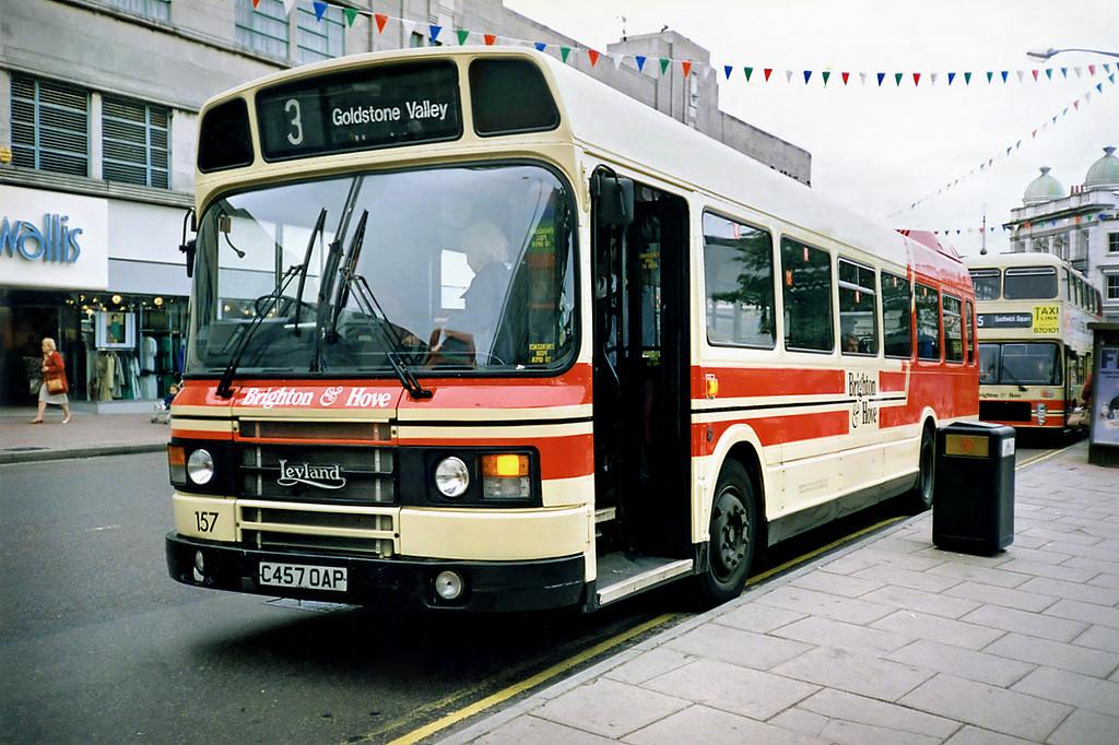 157 C457OAP, Brighton 18/5/1991
