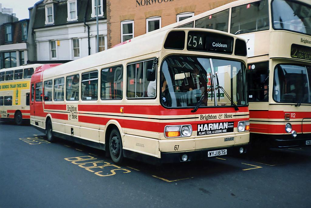 67 WYJ167S, Brighton 18/5/1991