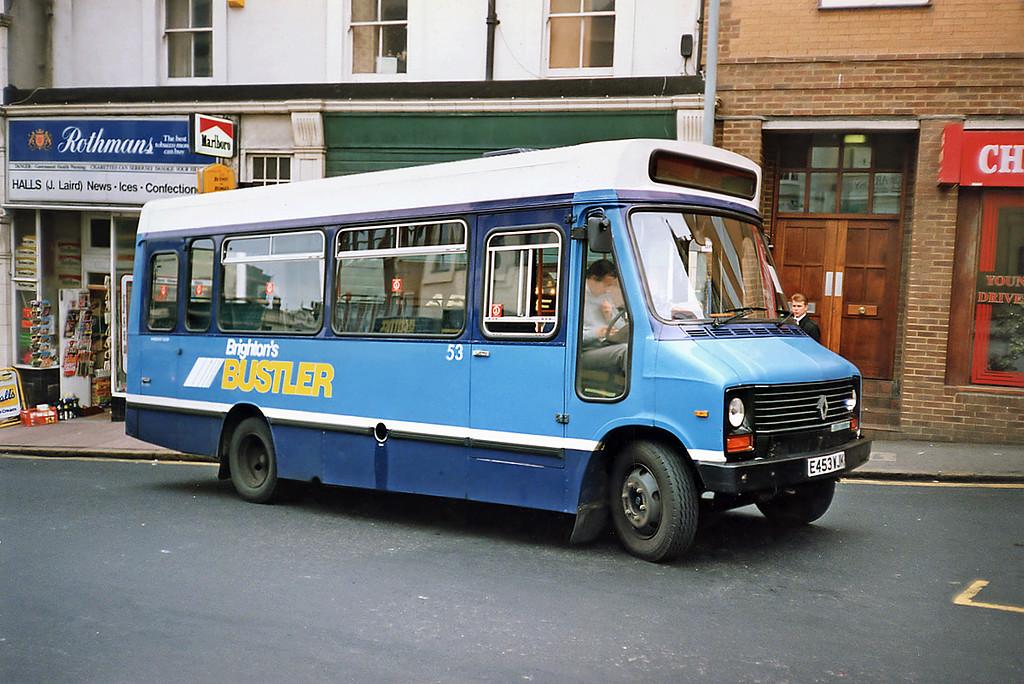 53 E453WJK, Brighton 18/5/1991