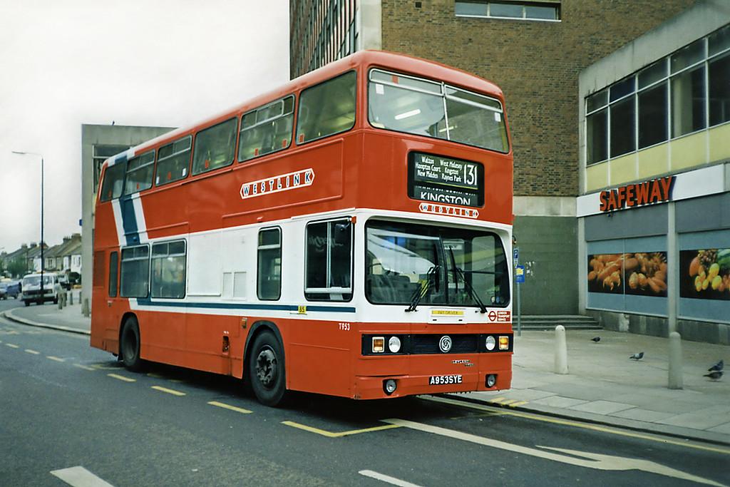 T953 A953SYE, Wimbledon 18/5/1991
