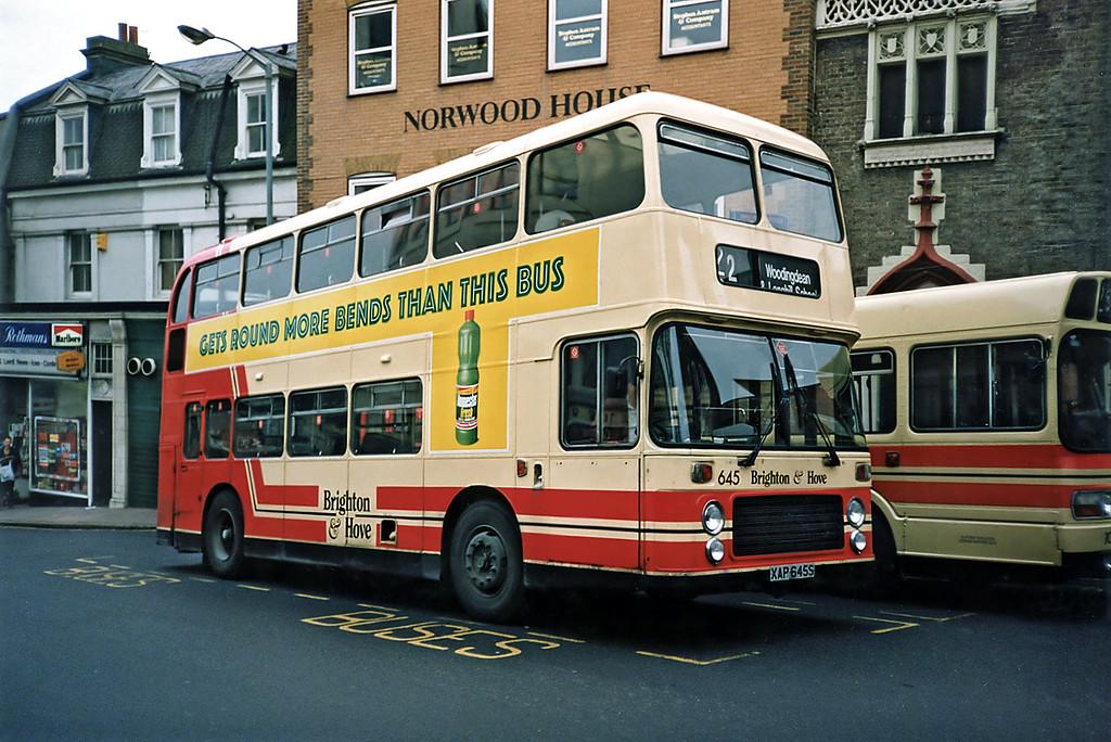 645 XAP645S, Brighton 18/5/1991