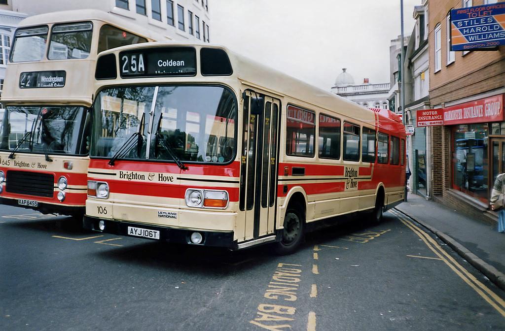 106 AYJ106T, Brighton 18/5/1991