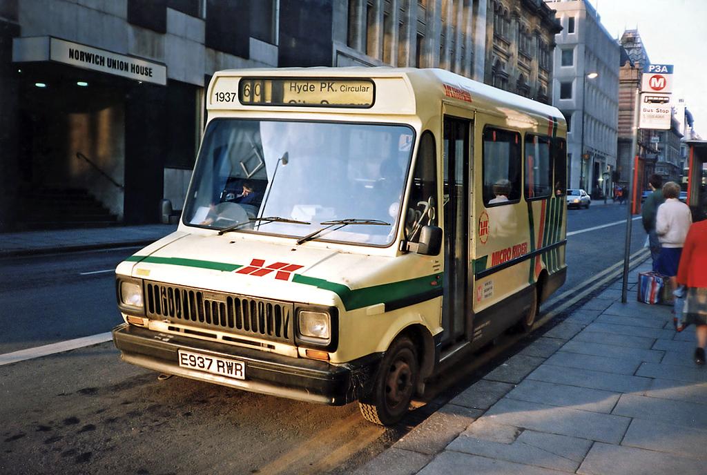 1937 E937RWR, Leeds 19/1/1991