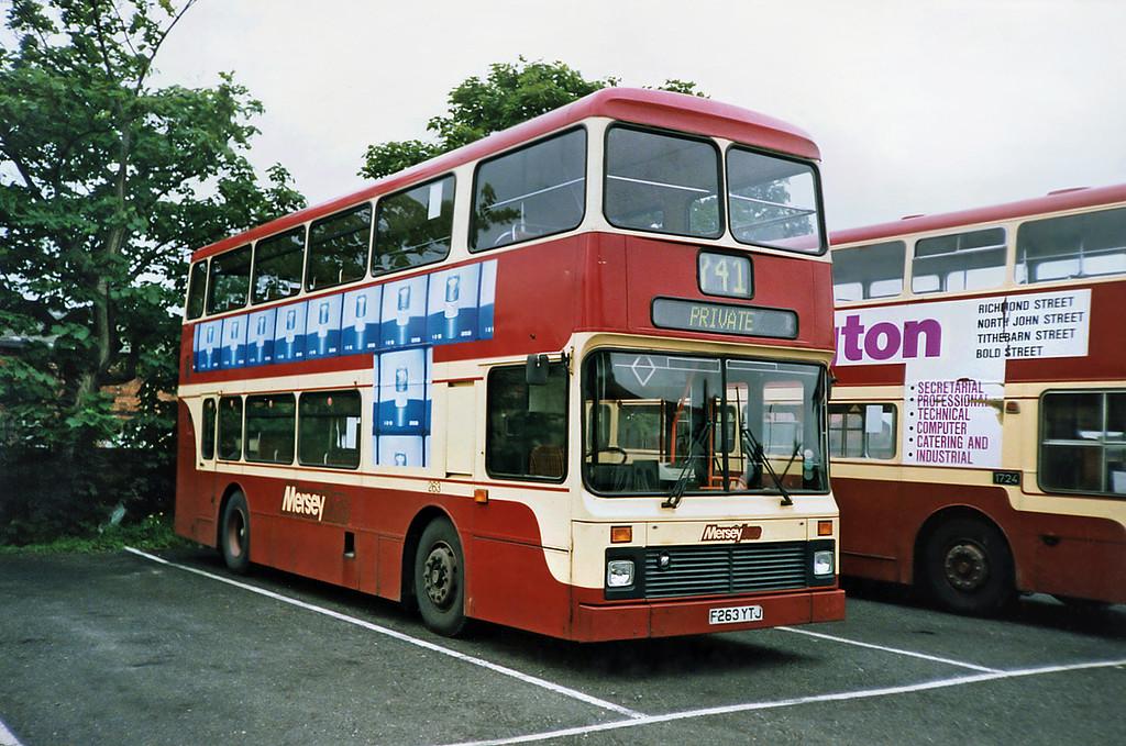 263 F263YTJ, Southport 19/6/1991