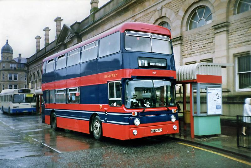 215 NRN402P, Accrington 20/3/1991