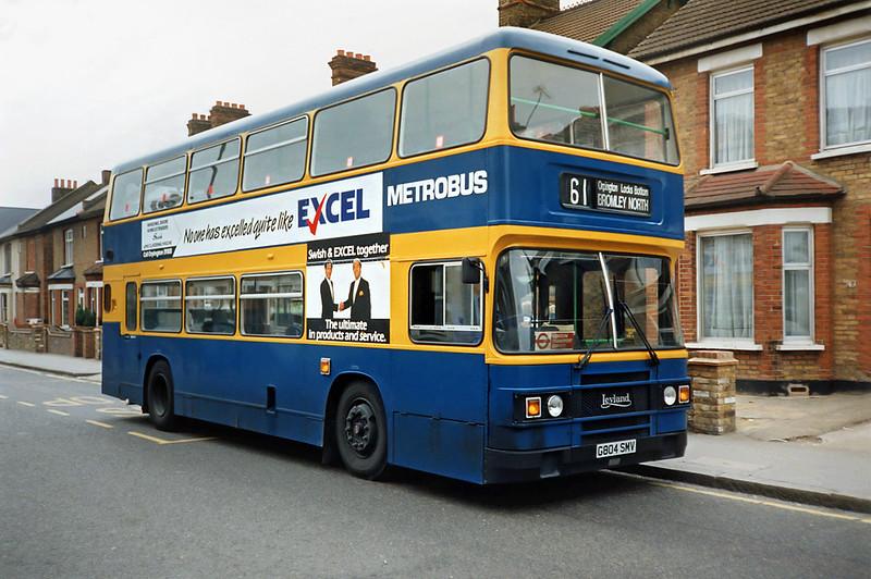 G804SMV, Bromley 20/5/1991