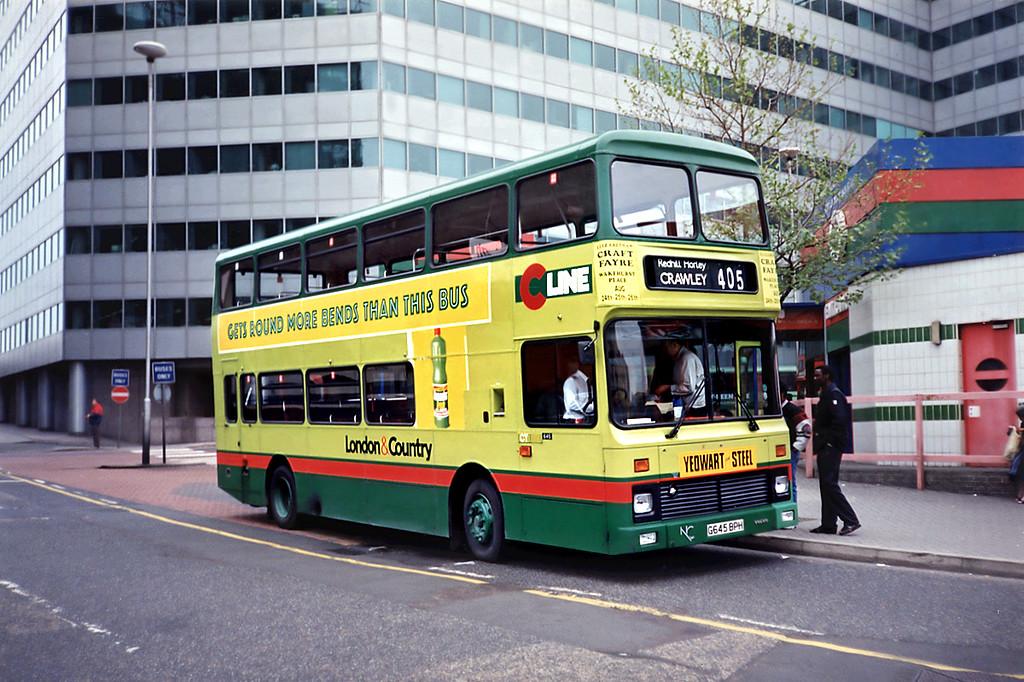 645 G645BPH, Croydon 20/5/1991