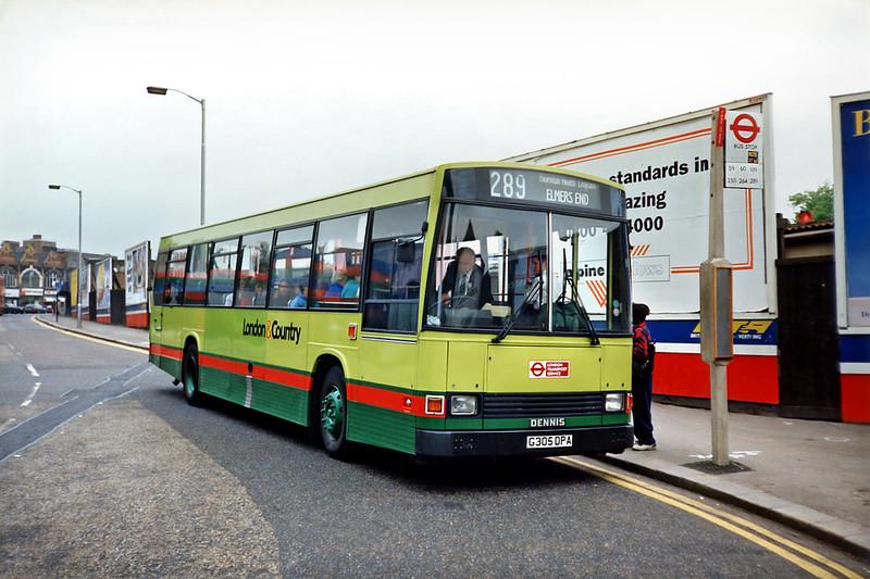 305 G305DPA, Croydon 20/5/1991