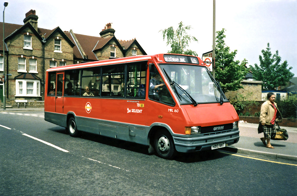 MRL160 H160WWT, Bromley 20/5/1991