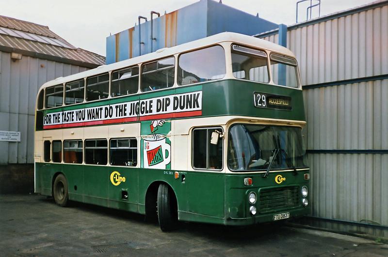 DVL383 FTU383T, Macclesfield 21/9/1991