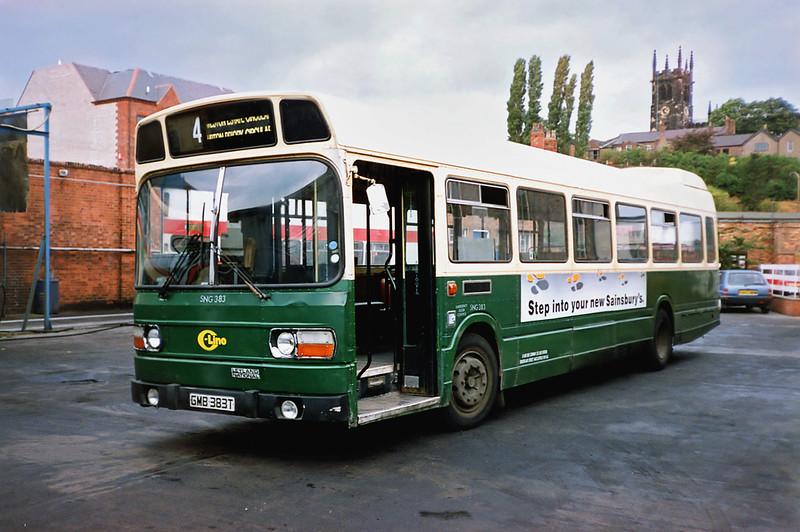 SNG383 GMB383T, Macclesfield 21/9/1991