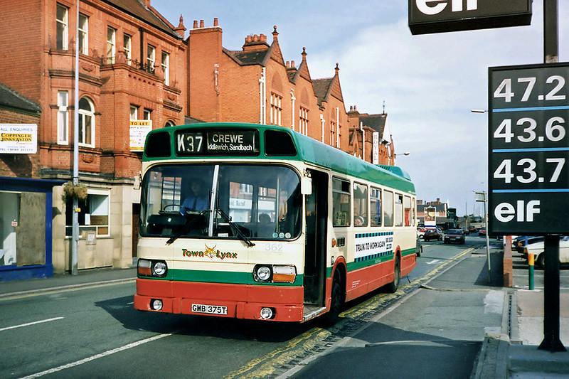 362 GMB375T, Crewe 21/9/1991