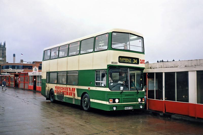 8020 H620VNW, Leeds 22/2/1991