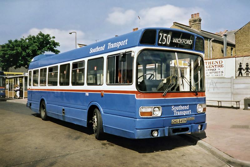 708 GHU645N, Southend 22/5/1991