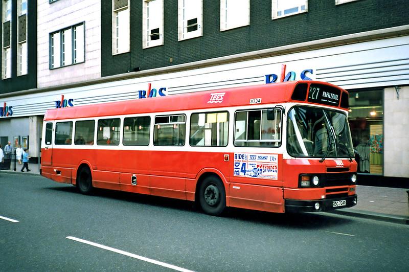 3734 RDC734X, Middlesborough 23/8/1991