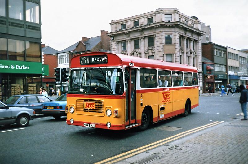 1670 NGR670P, Middlesborough 23/8/1991