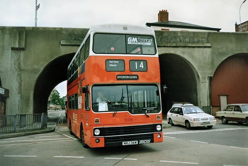 5036 MRJ36W, Stockport 24/6/1991