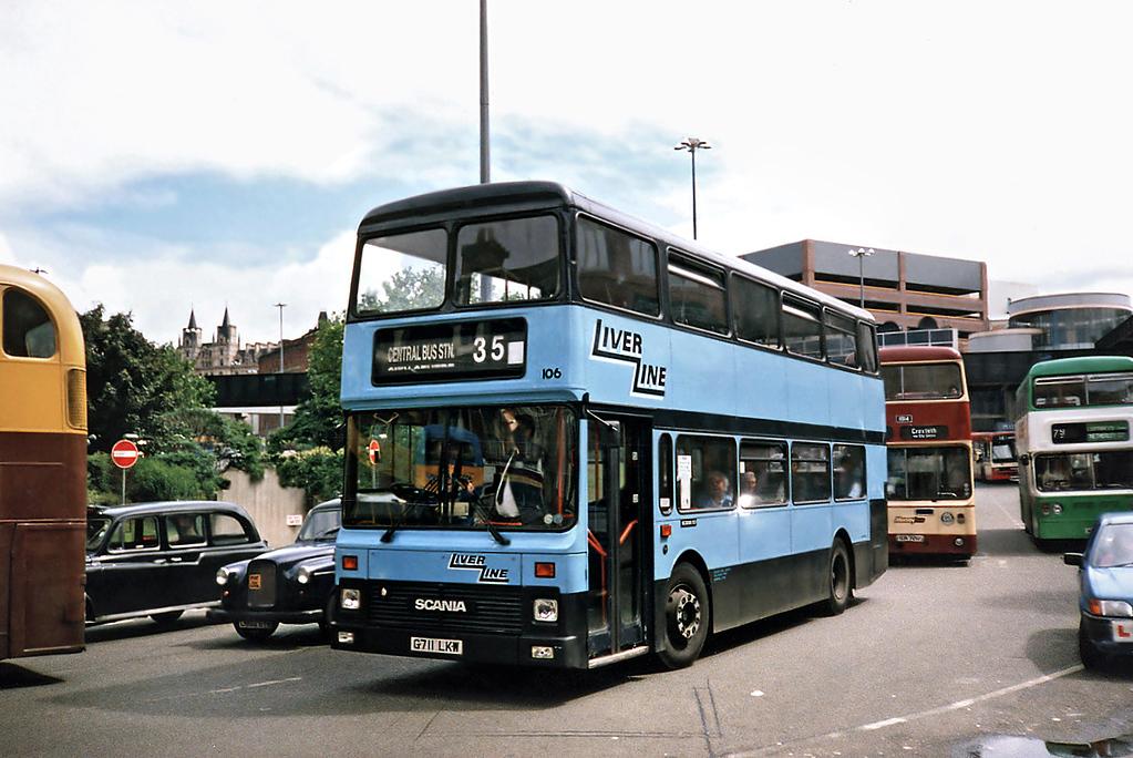 106 G711LKW, Liverpool 24/7/1991