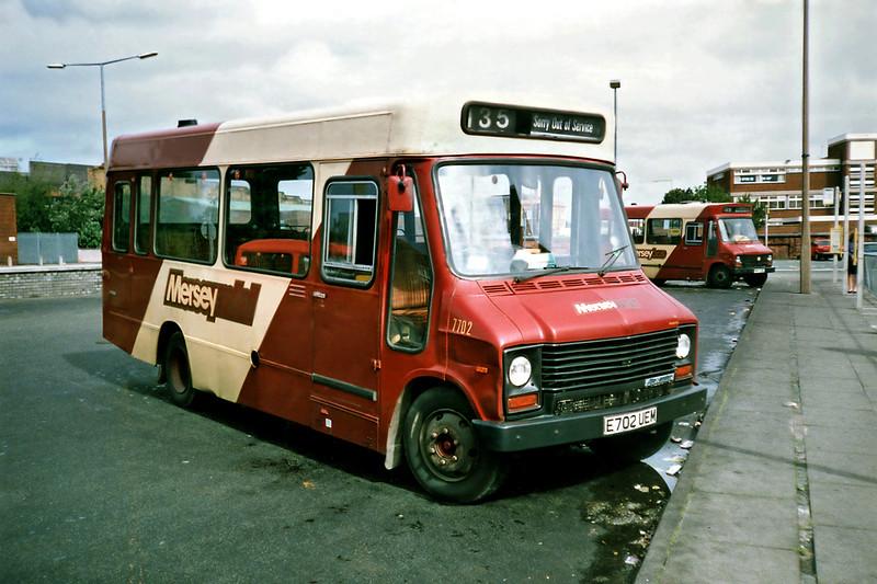 7702 E702UEM, Bootle 24/7/1991