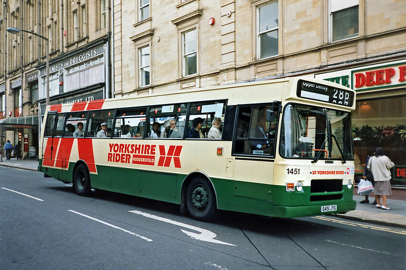 1451 G451JYG, Huddersfield 25/6/1991