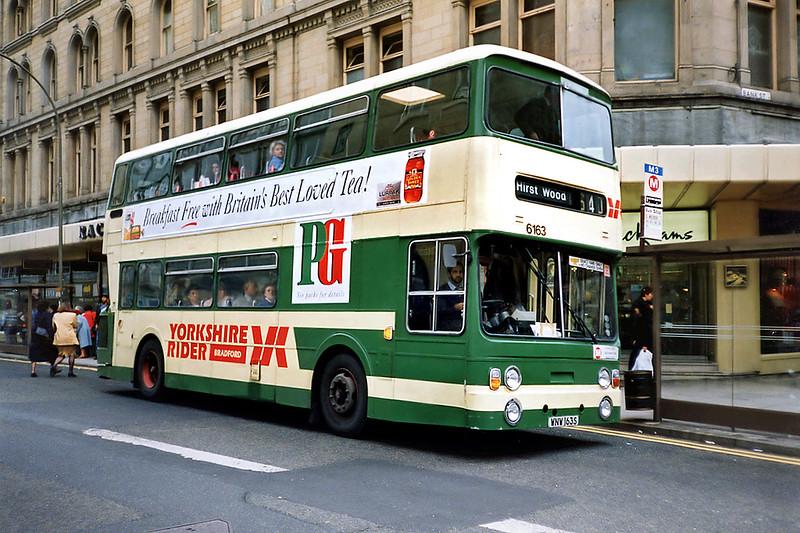 6163 WNW163S, Bradford 25/6/1991