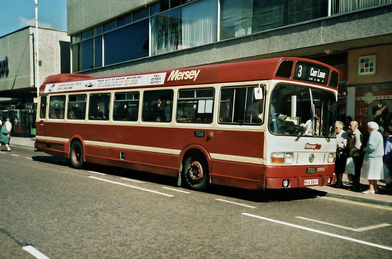 7001 RKA886T, Southport 28/6/1991