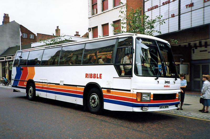 1154 B154WRN, Preston 29/6/1991