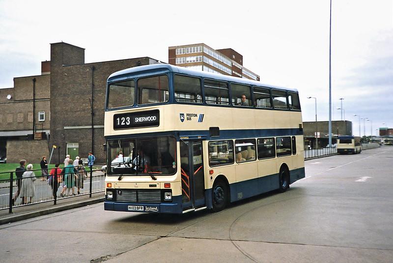 103 H103BFR, Preston 29/6/1991