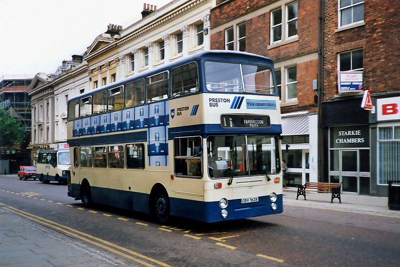 163 OBV163X, Preston 29/6/1991