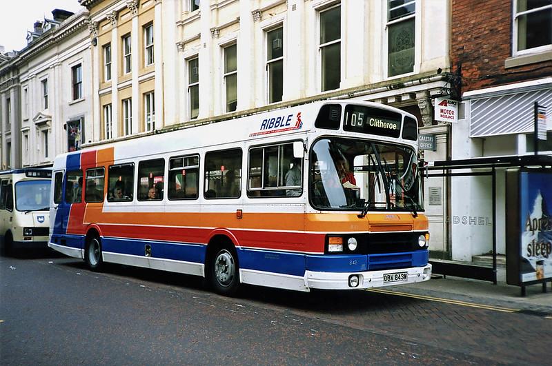 843 DBV843W, Preston 29/6/1991