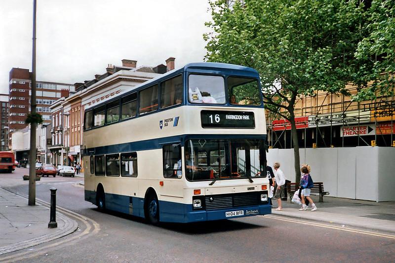 104 H104BFR, Preston 29/6/1991