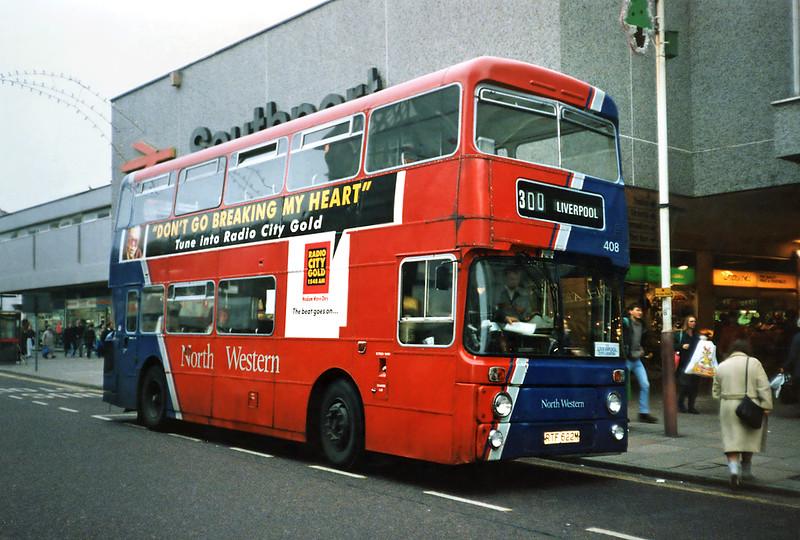 408 RTF622M, Southport 30/11/1991