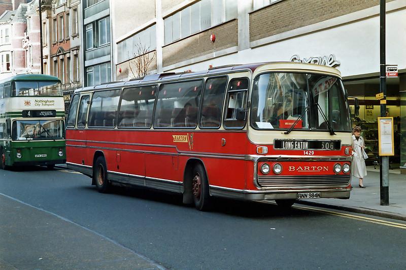 1429 RNN984N, Nottingham 4/3/1992